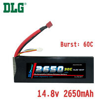 Genuine DLG RC Battery 14.8V 4S 30C 2650mAh Burst 60C Li-Po LiPo Dean's T plug