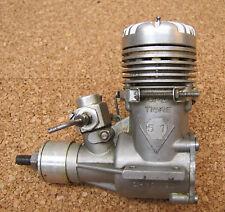 Saturno Micromeccanica Super Tigre 51 Chromed RC Motor With Rare Baffle Muffler.