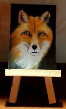 "Aceo original painting ""Sly little Fox"""