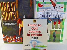 3 Books.Great Golf Shots.Good Golf Guide Correcting Common Faults.AA Golf Course