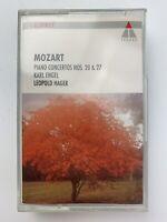 Mozart Piano Concertos Nos 20 & 27 Engel Mozarteum (Cassette)