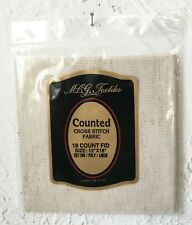 "Mcg Textiles 18 Count Aida Cross Stitch Fabric - Cotton Poly Linen 12"" x 18"""
