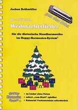 Mundharmonika-Spielheft OHNE Noten: Die schönsten Weihnachtslieder - Bluesharp