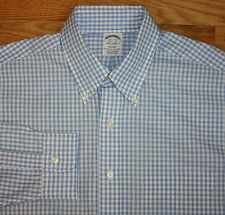 Brooks Brothers NWT Regent Slim Button Down Blue White Check Dress Shirt 16.5-35