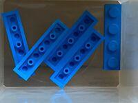 LEGO Parts - Dark Azure Plate 1 x 4 - No 3710 - QTY 5