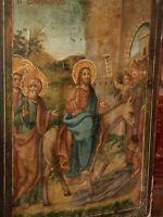 ANTICA ICONA ortodossa - GRECIA  seconda metà '800 olio su tavola quadro sacro