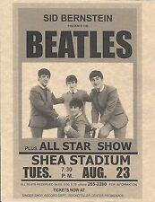 The Beatles Sid Bernstein Shea Stadium All Star Show > Concert Poster > Reprint
