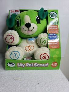 NEW NIB Leapfrog My Pal Scout Green Learning Talking Interactive Plush Puppy