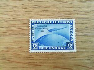 Deutsches Reich 1933   Mi Nr 497 Zeppelin Chicagofahrt