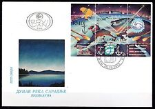 Yugoslavia - 1993 Danube - Mi. Bl. 42 on clean FDC