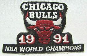 Vintage 1991 Chicago Bulls Jacket Patch Badge NBA World Champions Basketball