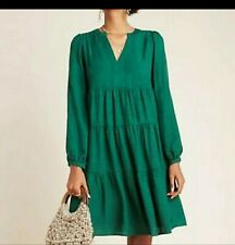 Anthropologie Maeve * InDark Green* V-Neck Dress XL