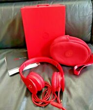 Genuine BEATS By Dr. Dre SOLO HD Wired On-Ear Headphones Wired Red