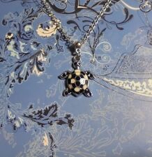 Turtle Charm Silver Chain Necklace**~Free Ship