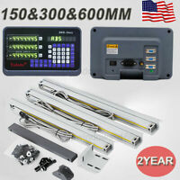 "US! 3 Axis Digital Readout 6"" 12"" 24"" TTL Linear Glass Scale DRO Bridgeport Mill"