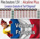 Piles boutons 1,5V Alcaline - Modèle AG2 LR59 LR726 396 LR41 LR44 LR43 LR54 LR66