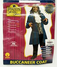 Rubies Halloween Costume Buccaneer Coat XL + Bonus Pirate Scarf w/ Dreads New