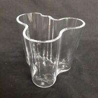 Vintage Alvar Aalto Clear Glass Vase
