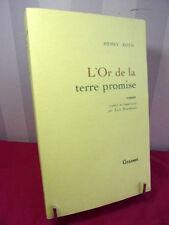 L'OR DE LA TERRE PROMISE  Henry Roth