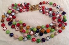 Venetian Glass Bead Necklace Ancient Glassworker SUV S.U.V (PERFECT/NEW Cond)