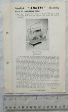 Vintage leaflet: Swedish Arkits Basketry - magazine rack, 97