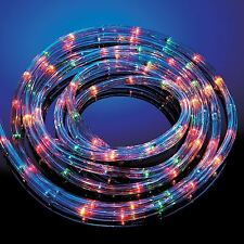 Buy christmas rope lights ebay 25m multi coloured rope light indoor outdoor christmas xmas garden static flash aloadofball Images