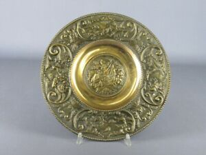 Dish Wall Bronze With Shapes Of Hunting Period End Xx Century