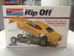 SEALED 1972 MONOGRAM drag race model kit RIP OFF Plymouth Duster FUNNY CAR #8277