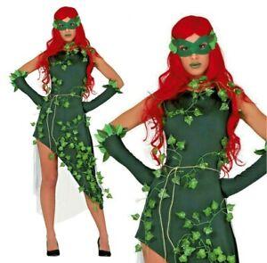 Ladies Plant Villain Costume Ivy Dress Fancy Dress Halloween Womens Costume UK