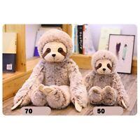 Cute Sloth Stuffed Plush Animal Doll Soft Toys Pillow Cushion Xmas Kids Gift