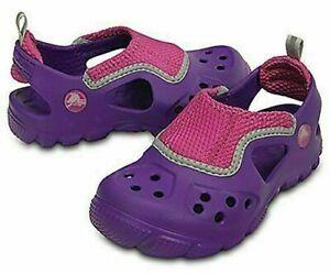 New Kids Crocs Micah II Sandal Waterproof Girls Water Summer Shoes SZ 6/7 8/9
