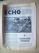 SPEEDWAY ECHO Newspaper 9 May 1968- Luckless Pander, Classified Results