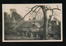 Somerset SELWORTHY Church a peep + cottage c1920/30s? RP PPC
