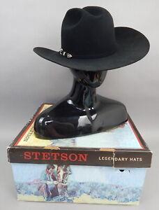 New Mens Stetson Skyline 6x beaver felt black western cowboy hat 7.5