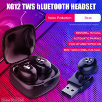 TWS bluetooth 5.0 Headset Wireless Earphones Twins Earbuds 5D Stereo Headphones