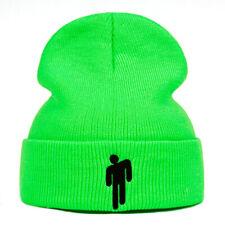 Billie Eilish Beanie Knitted Winter Hat Solid Hip-hop Skullies Knitted Warm