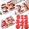 New Numbers 0-8 Cake Mould Pan Baking Tin Silicone Home Tool Kitchen Supplies