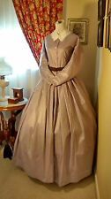 Civil War Reenactment Ladies Day Dress Size 20 Lavendar Polished Cotton Blend