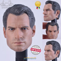 """1:6 Scale Superman Henry Cavill Head Sculpt For 12"""" Male Action Figure Body Toy"""