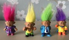 """4 Vintage Soma Troll Dolls 2"""""""