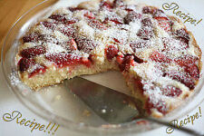"""☆""""RECIPE""""☆Luscious & Moist!☆Almost-Summer Strawberry Cake☆Yummers!!! :)☆"""