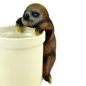 "Touch of Nature 6"" Brown Sloth Pot Hanger MI 56239 Miniature Garden"
