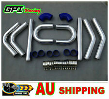 "new 2.5"" 64mm Aluminum Universal Intercooler Turbo Piping pipe Kit + hose kits"