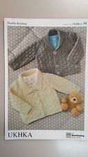 UKHKA Knitting Pattern #59 Knit Baby Cardigan with 2 Collar Options