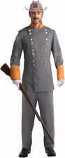 Confederate Officer Adult Costume Fancy Dress Australian Seller