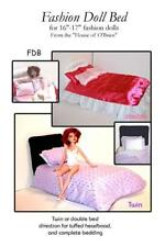 "Bed pattern for your favorite 16""- 17"" fashion doll"