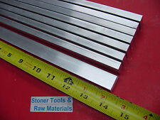 "8 Pieces 3/8"" X 3/4"" ALUMINUM 6061 FLAT BAR 14"" long T6511 .375"" New Mill Stock"