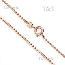 T&T 1.3mm 9K Rose Gold Filled Chain Necklace (CF117Z)