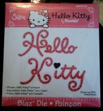 SIZZIX BIGZ Large Die Cutter HELLO KITTY W/ HEART fits Cuttlebug & Wizard 655805