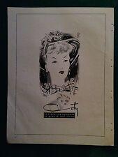 PY125 Pubblicità Advertising Clipping 31x24 cm (1947) CIPRIA COTY ill.Rossi